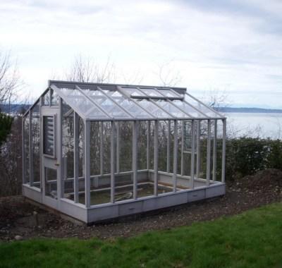 Glass-to-ground greenhouse in Seattle, WA
