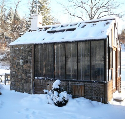 Greenhouse attached to historic cook house