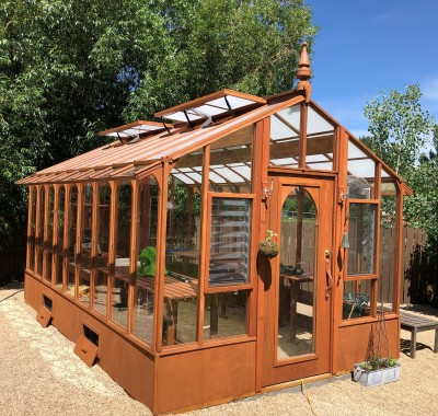 10x16 Garden Deluxe with jalousie windows in end wall