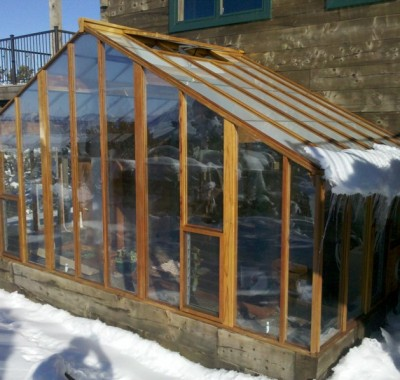 Custom attached greenhouse in CO