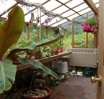 Interior of the Garden Sunroom with twin wall roof