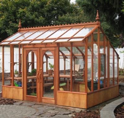Fancy redwood greenhouse