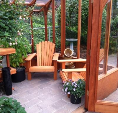 nantucket greenhouse seating area