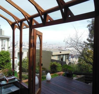 Glass greenhouse in San Francisco CA