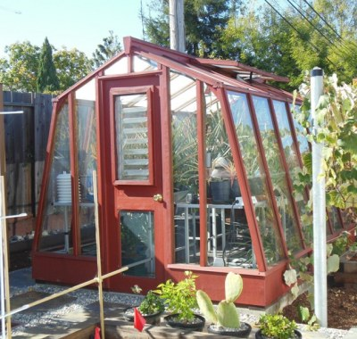 Solite 8x 11 freestanding greenhouse used for growing pineapples in California