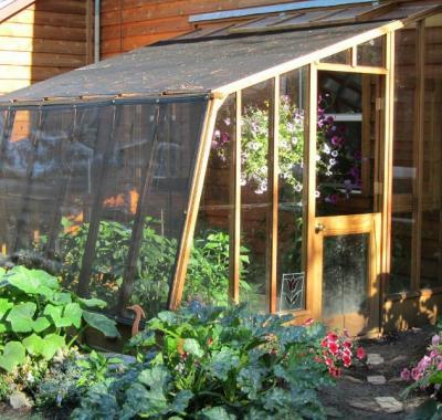 9 1/2' x 11' Solite Lean-to greenhouse with Dutch door