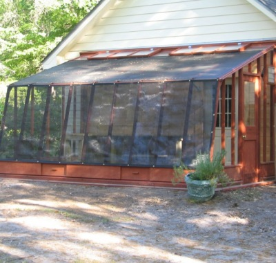 9 1/2'x18' Solite Lean-to greenhouse with shade cloth