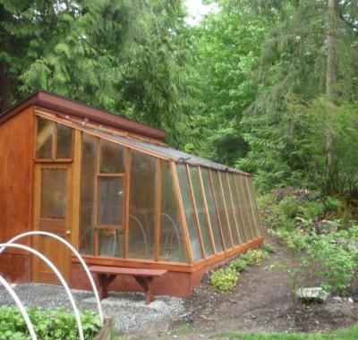 9 1/2' Solite Lean-to solite greenhouse that attaches to customer's structure