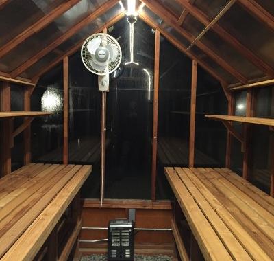 Interior of 7x11 Trillium greenhouse