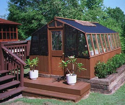Home greenhouse with shade cloth