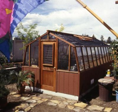 Redwood garden greenhouse