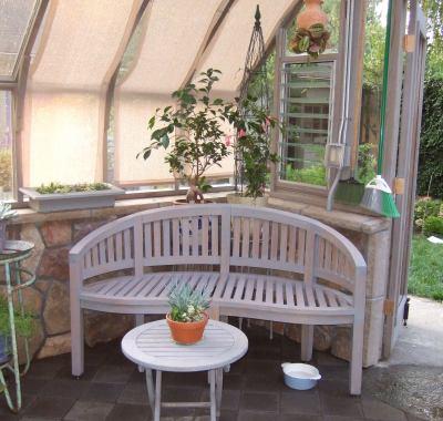 Tudor Greenhouse with sitting area