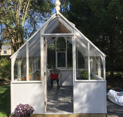 8' wide Tudor painted white