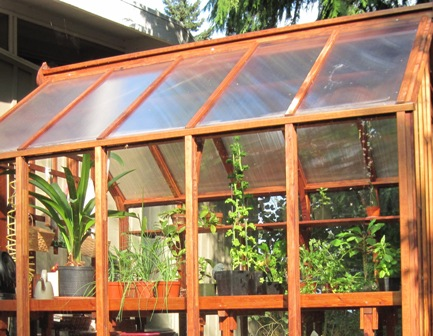 Glass walls, twin wall roof