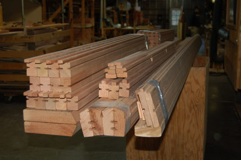 Milled Redwood for greenhouses