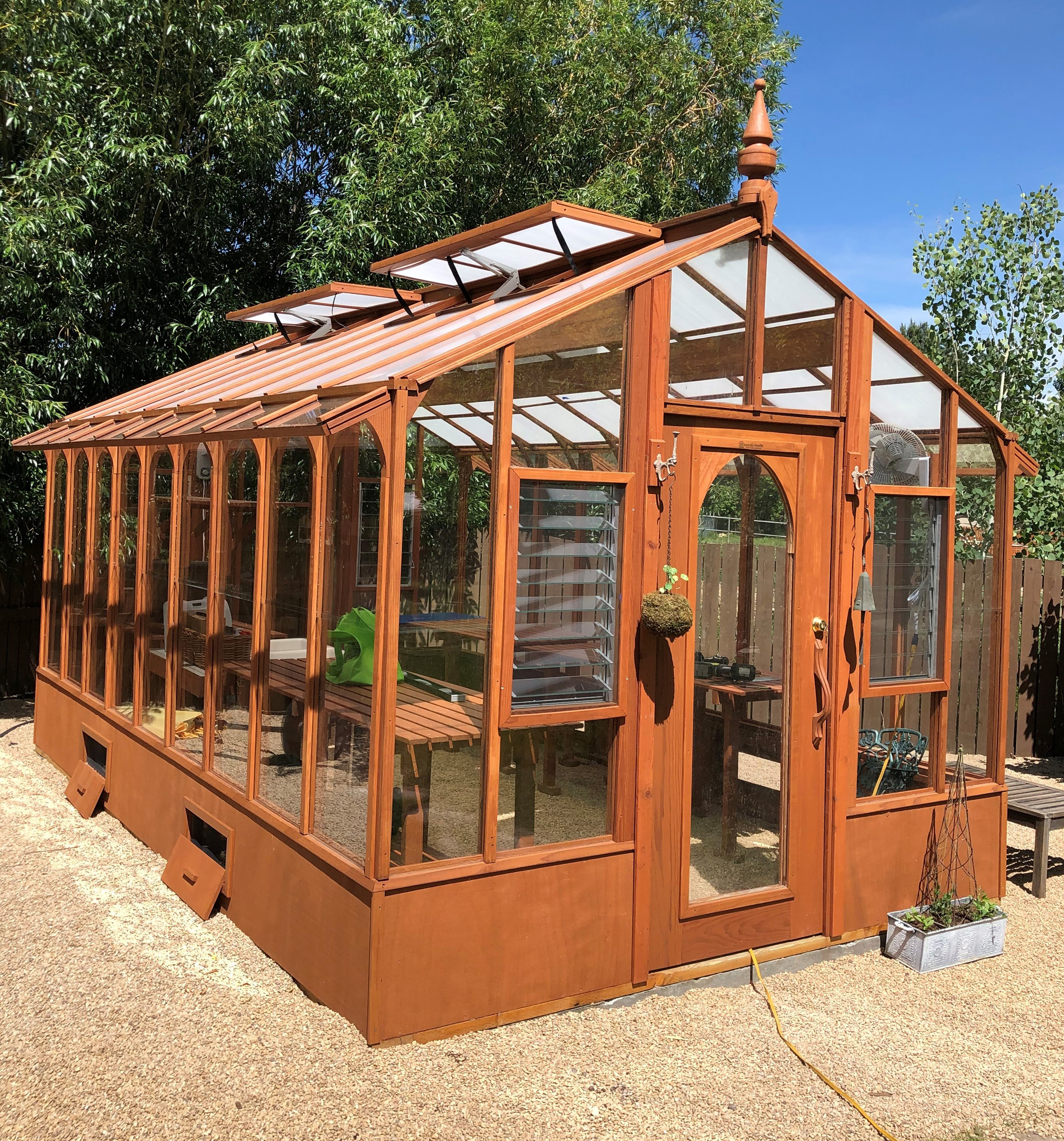 Beautiful Redwood Greenhouses for 65 Years