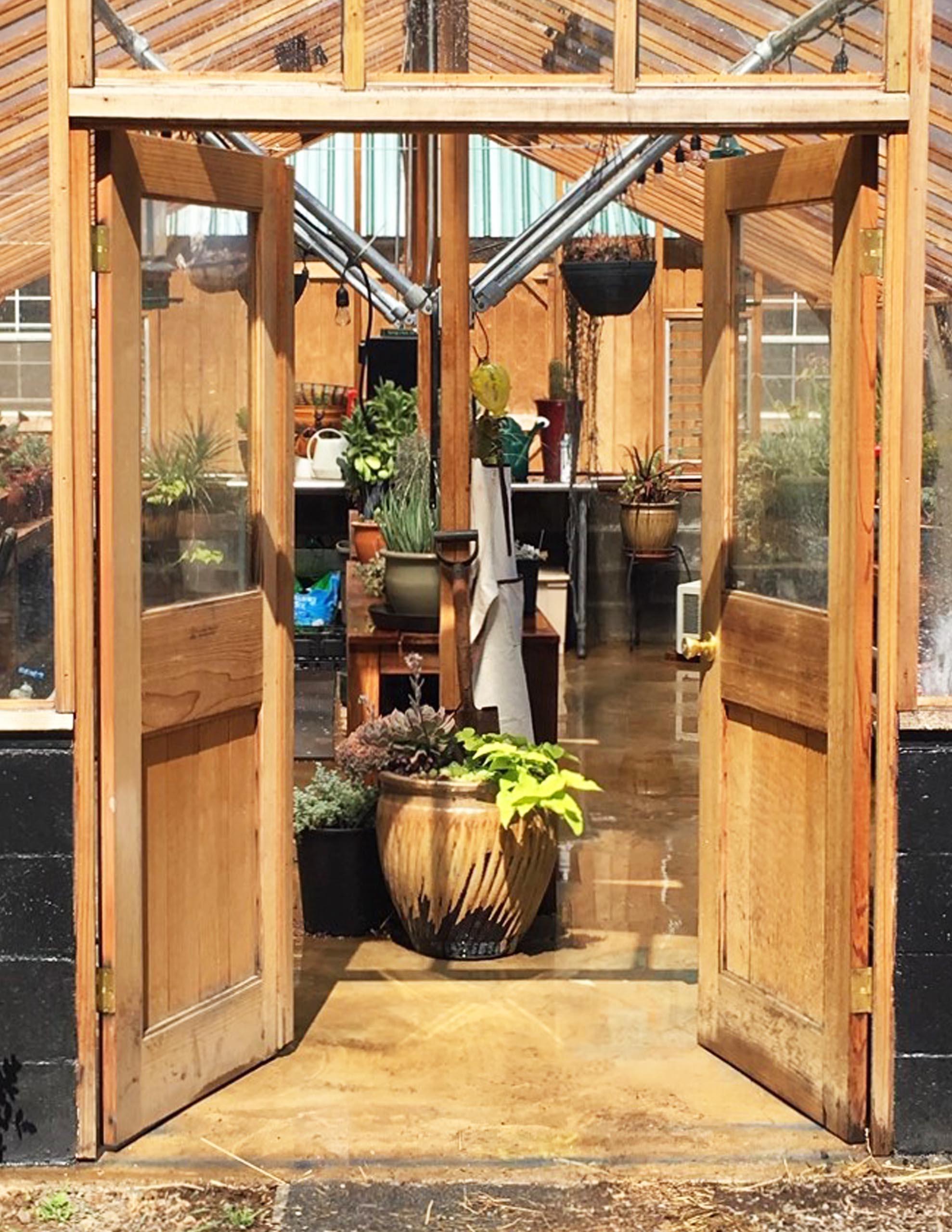 Double Standard Greenhouse Doors