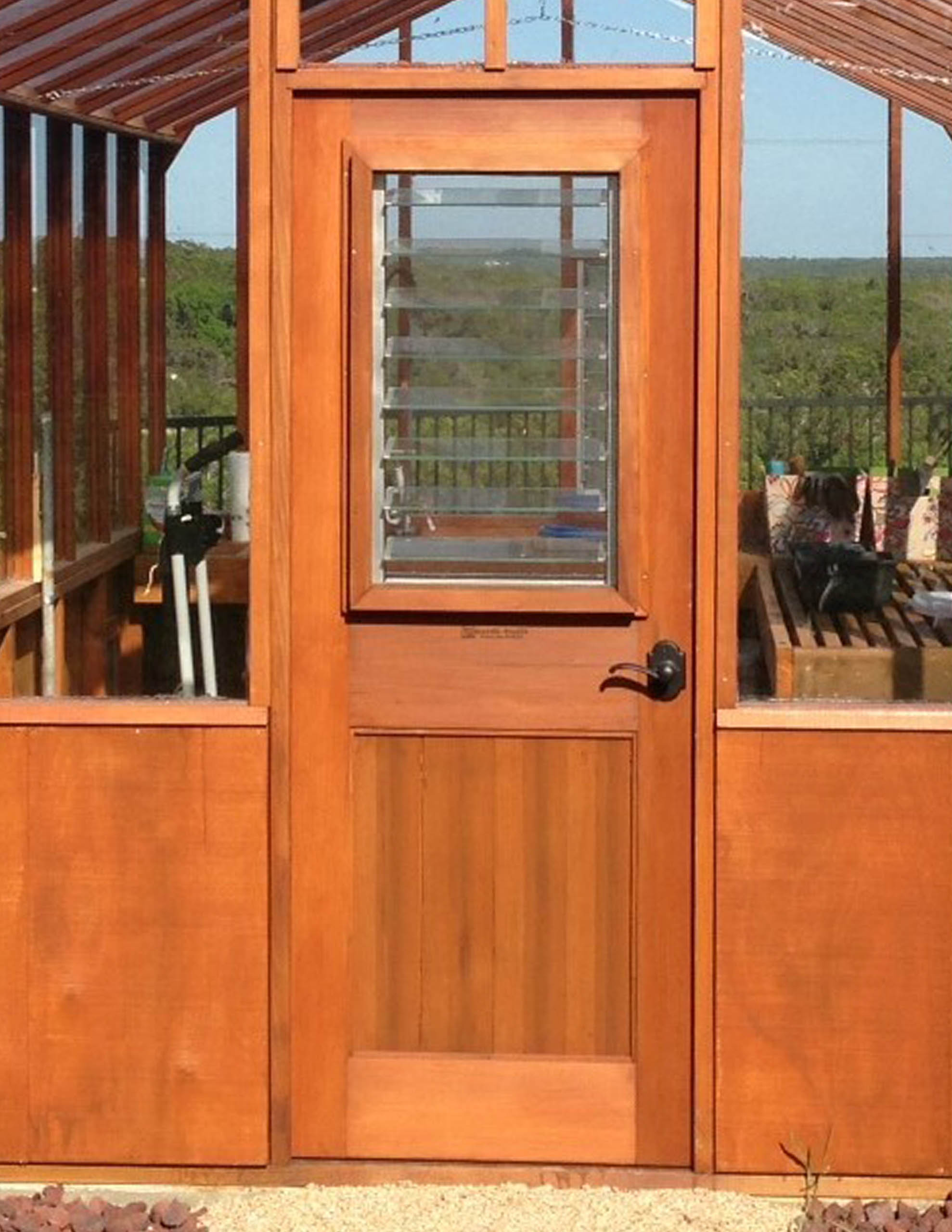 Greenhouse Door Jalousie Window